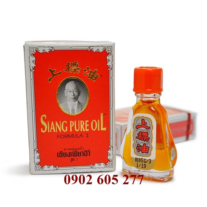Dầu gió Siang Pure Oil 3cc chữ vàng loại 1