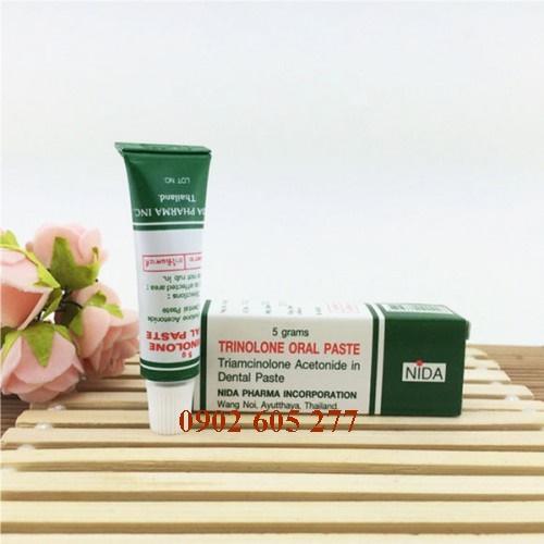 Kem trị nhiệt miệng Trinolone Oral Paste Thái Lan