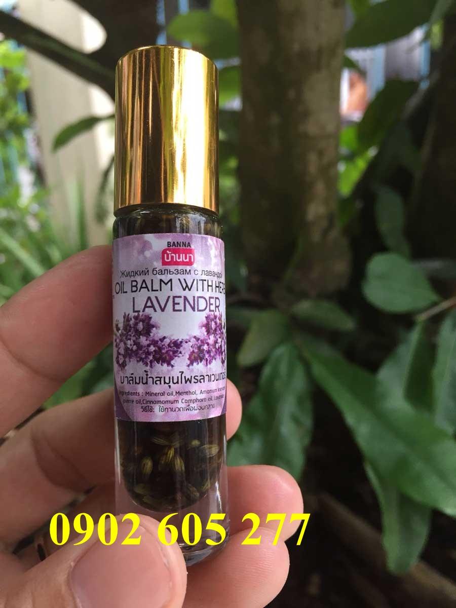 Dầu lăn thảo dược Thái Lan hương Lavender