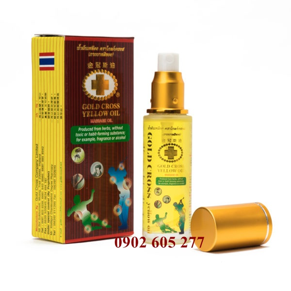 Dầu thập tự vàng 48ml - gold cross yellow oil 48ml