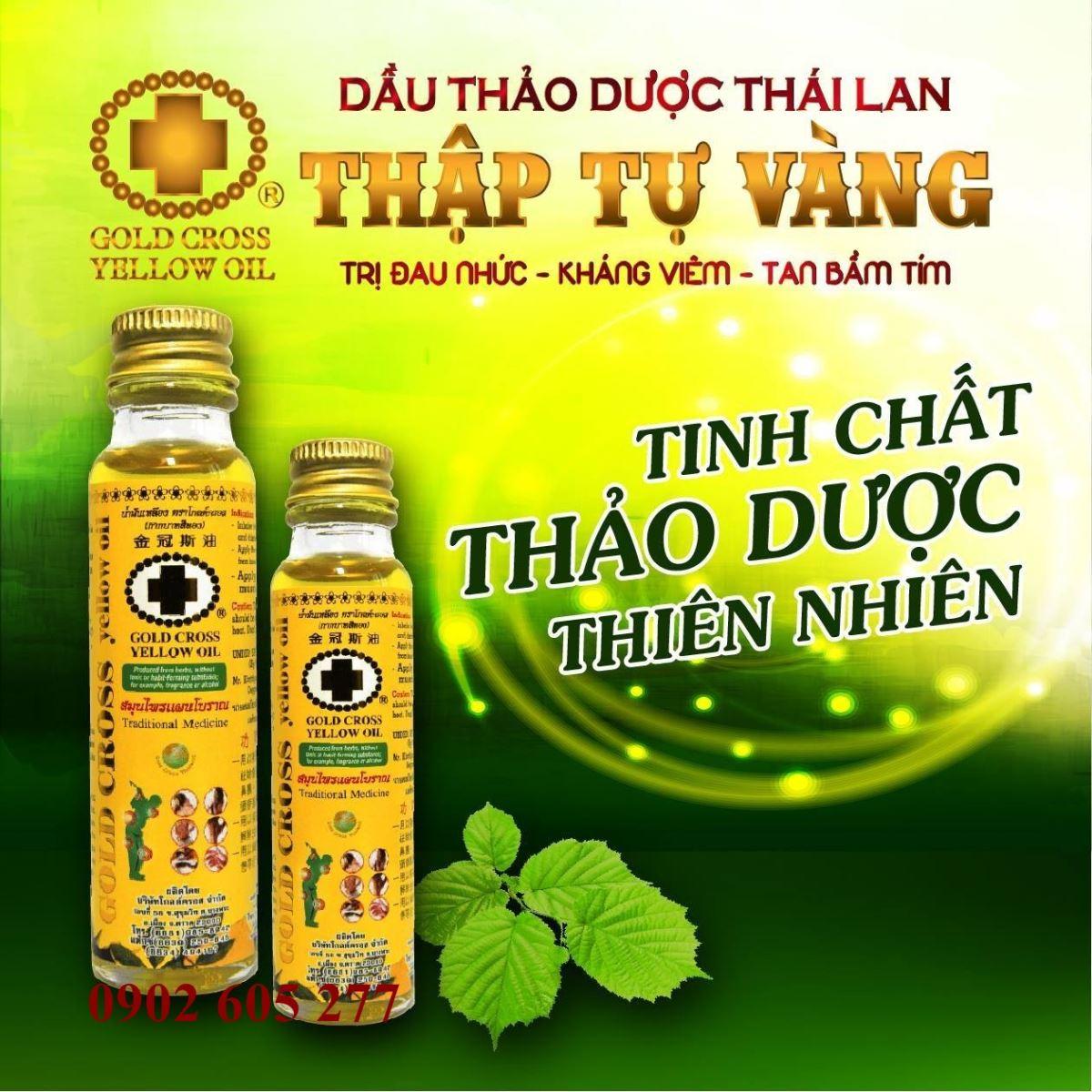 Phân phối Dầu xoa bóp thập tự vàng Thái Lan tại Lai Châu
