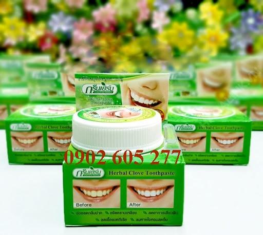 Bỏ sỉ Kem tẩy trắng răng Green Herb Thái Lan toàn quốc