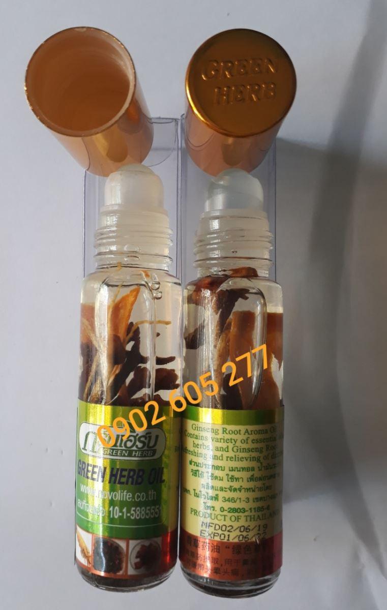 Thành phần có trong dầu sâm Thái Lan
